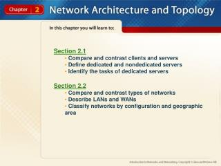 Section 2.1  Compare and contrast clients and servers  Define dedicated and nondedicated servers