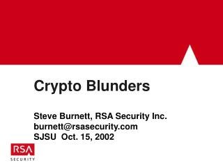 Crypto Blunders