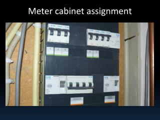 Meter cabinet assignment