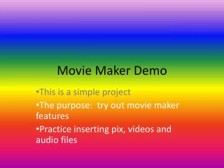 Movie Maker Demo