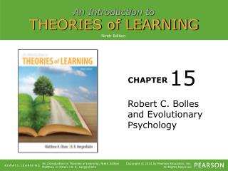 Robert C. Bolles and Evolutionary Psychology