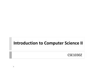 Introduction to Computer Science II