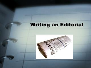 Writing an Editorial
