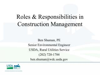 Roles & Responsibilities in Construction Management