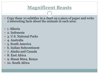 Magnificent Beasts