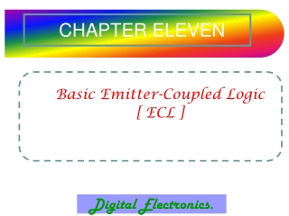 LECTURE 11   DIGITAL ELECTRONICS