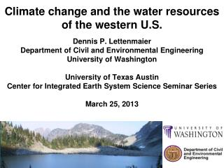 Climate change and the water  resources of the western U.S.