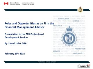 Roles and Opportunities as an FI in the Financial Management Advisor