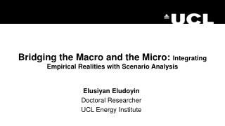 Bridging the Macro and the Micro:  Integrating Empirical Realities with Scenario Analysis