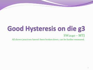 Good Hysteresis on die g3