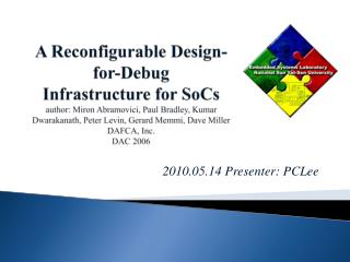 2010.05.14 Presenter: PCLee