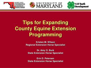 Tips for Expanding  County Equine Extension Programming