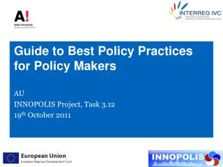 Guide to Best Policy Practices for  Policy Makers