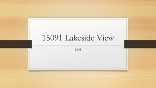 15091 Lakeside View
