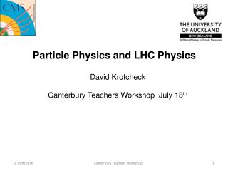Particle Physics and LHC Physics