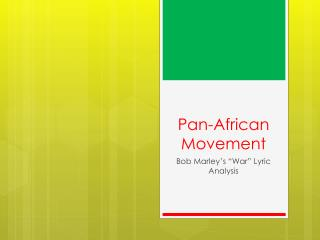 Pan-African Movement