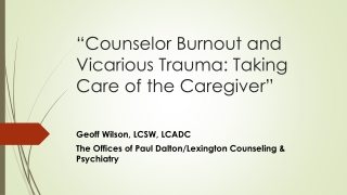 Counselor  Burnout