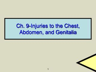 Ch. 9-Injuries to the Chest, Abdomen, and Genitalia