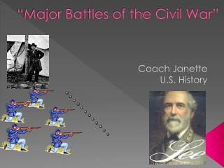 """Major Battles of the Civil War"""
