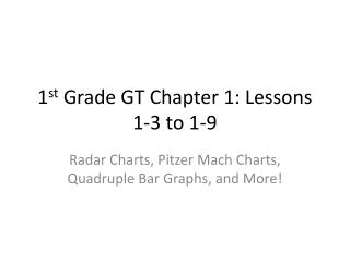 1 st  Grade GT Chapter 1: Lessons 1-3 to 1-9