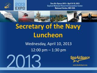 Secretary of the Navy Luncheon