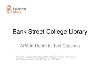 Bank Street College Library