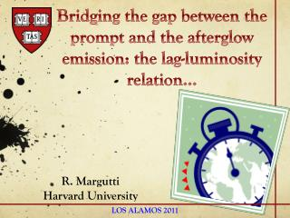 Bridging the gap between the prompt and the afterglow emission: the lag-luminosity relation…
