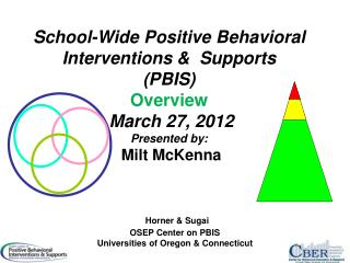 Horner & Sugai OSEP Center on PBIS Universities of Oregon & Connecticut