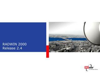 RADWIN 2000 Release 2.4
