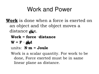 Work  Force  Distance