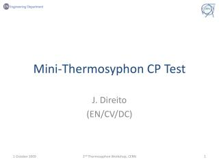 Mini-Thermosyphon CP Test