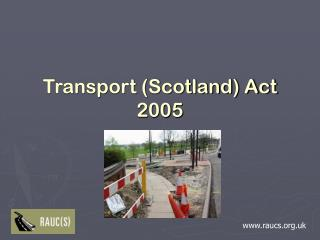 Transport (Scotland) Act 2005