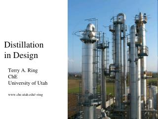 Distillation in Design