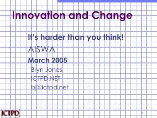 Innovation and Change