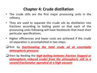 Chapter 4: Crude distillation