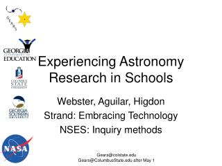 Experiencing Astronomy Research in Schools