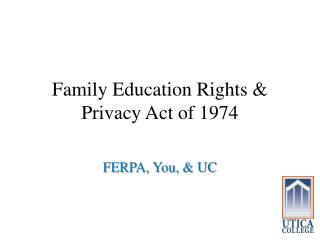 Family Education Rights & Privacy Act of 1974