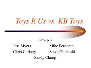 Toys R Us vs. KB Toys