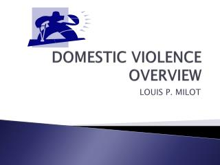 DOMESTIC VIOLENCE OVERVIEW