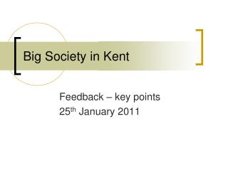 Big Society in Kent