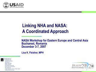 Linking NHA and NASA:  A Coordinated Approach