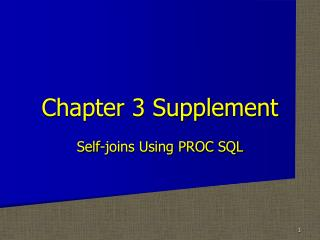 Chapter 3 Supplement