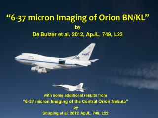 """6-37 micron Imaging of Orion BN/KL"""