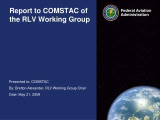 Report to COMSTAC of the RLV Working Group