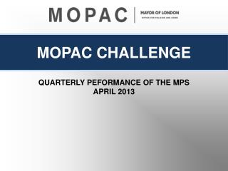 QUARTERLY PEFORMANCE OF THE MPS APRIL 2013