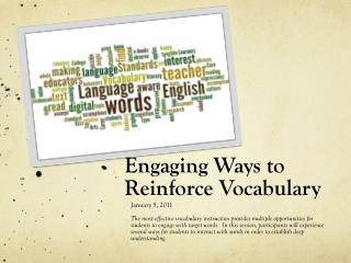 Engaging Ways to Reinforce Vocabulary