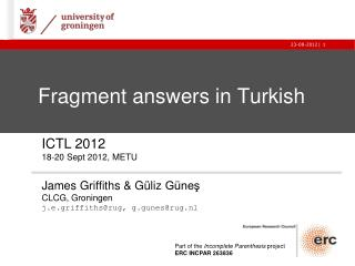 Fragment answers in Turkish