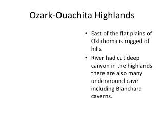 Ozark-Ouachita Highlands