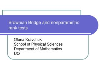 Brownian Bridge and nonparametric  rank tests
