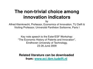 Related literature can be downloaded from:  eci.tbm.tudelft.nl